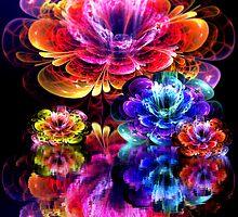 dreamy 3d bloom water garden by LoreLeft27