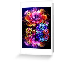 dreamy 3d bloom water garden Greeting Card