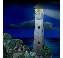 To the moon lighthouse Photographic Print