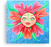 Doll Face Flower Canvas Print