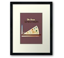 The Cheese Spectrum Framed Print