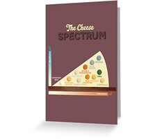 The Cheese Spectrum Greeting Card