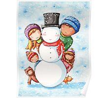 Building a Snowman Poster