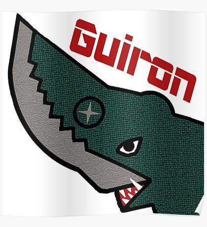 Guiron - White Poster