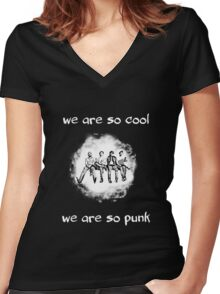 So Cool So Punk Women's Fitted V-Neck T-Shirt