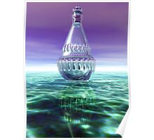 Diamond Decanter on Green Marble Poster