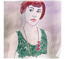 YOUNG WOMAN WITH NECKLACE Poster