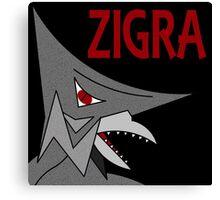Zigra - Black Canvas Print