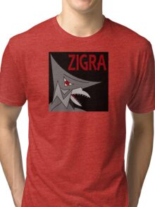 Zigra - Black Tri-blend T-Shirt