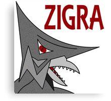 Zigra - White  Canvas Print