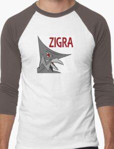 Zigra - White  Men's Baseball ¾ T-Shirt