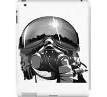 Fighter Pilot Helmet and Mask iPad Case/Skin