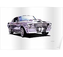 1967 Ford Mustang Custom Poster