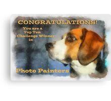 Banner Challenge Photo Painters Canvas Print