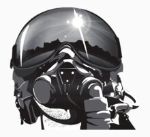 Fighter Pilot Helmet and Mask by rott515