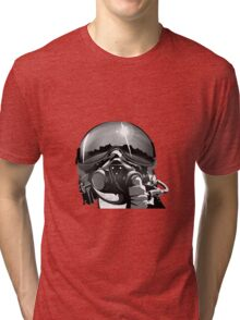 Fighter Pilot Helmet and Mask Tri-blend T-Shirt