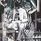 Futurist Sitting on a Porch in Contemplation. by nawroski .