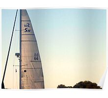 Sail in the Early Sunset, Narragansett Bay, Rhode Island Poster