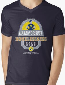 Hammer-Out Homelessness Mens V-Neck T-Shirt
