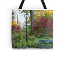 Lamppost and Bench Tote Bag