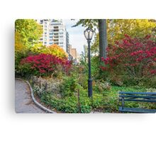 Lamppost and Bench Canvas Print