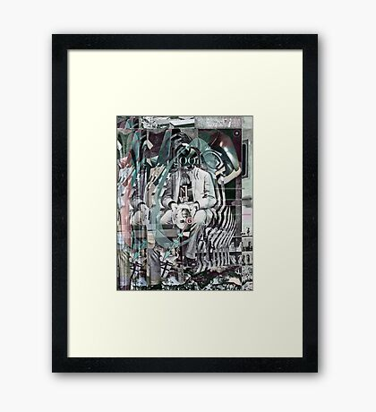 Futurist Sitting on a Porch Contemplating 2. Framed Print