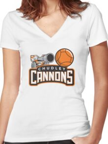 Chudley Cannons Women's Fitted V-Neck T-Shirt
