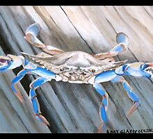 "97. ""The Blue Crab in Rockport, Texas."" by amyglasscockart"