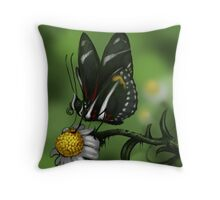 Zebra Heliconian Throw Pillow