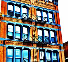 Orange Building - Downtown Cincinnati by Alex Baker