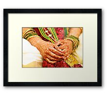 The Bride's Hands Framed Print