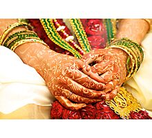 The Bride's Hands Photographic Print
