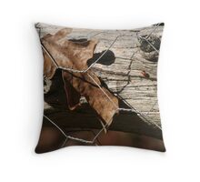 Fenced in leaf Throw Pillow