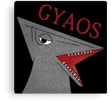 Gyaos - Black Canvas Print