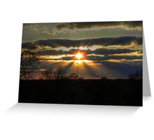 Sunbeams on the Move Greeting Card