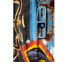 Blue Latch Photographic Print