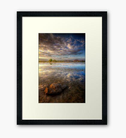 Lonesome Stone Framed Print
