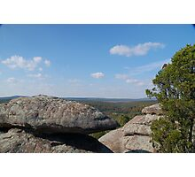 Forest Boulders Photographic Print