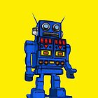 Blu Bot Yellow by LawrenceA