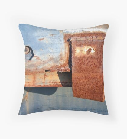 Rusty Blues Throw Pillow