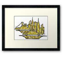 New York City drawing Framed Print