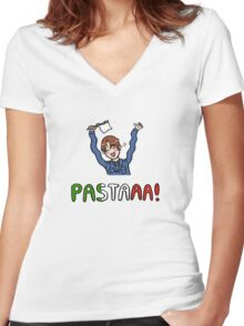 PASTAAA! Women's Fitted V-Neck T-Shirt
