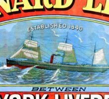 Cunard Shipping Line Vintage Cruise Advertisement Sticker