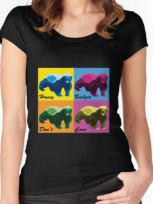 Warhol Style Honey Badger Women's Fitted Scoop T-Shirt