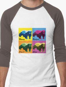 Warhol Style Honey Badger Men's Baseball ¾ T-Shirt