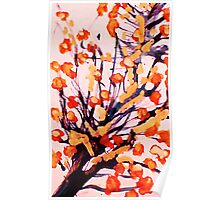 Cherry Blossoms, watercolor Poster
