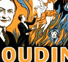 Houdini Do Spirits Return Vintage Advertisement Sticker