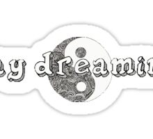 """Day Dreaming"" Yin/Yang tumblr sticker Sticker"