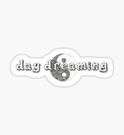 """Day Dreaming"" Yin/Yang tumblr sticker Sticker"