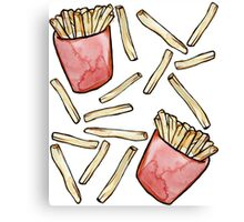 French Fries are awesome  Canvas Print